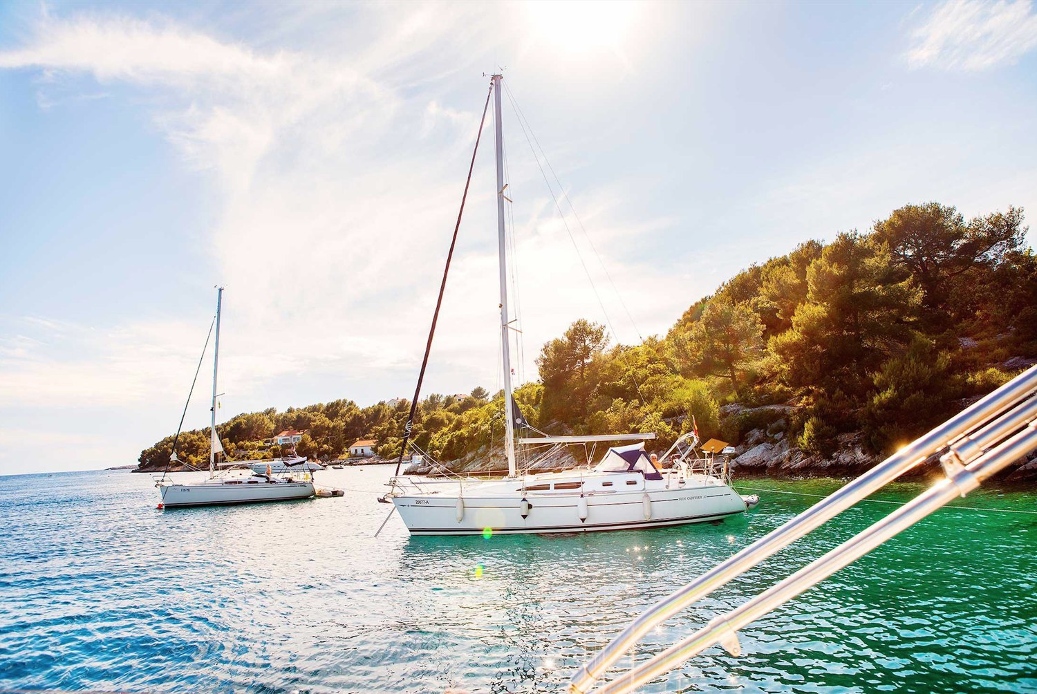 Yachts anchored paradise cove croatia 3